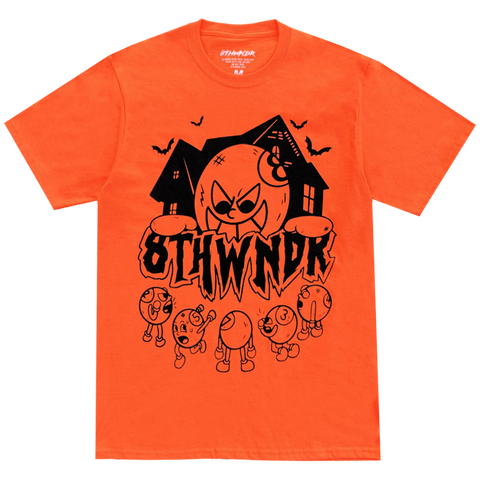 HAUNTED HOUSE TEE ORANGE