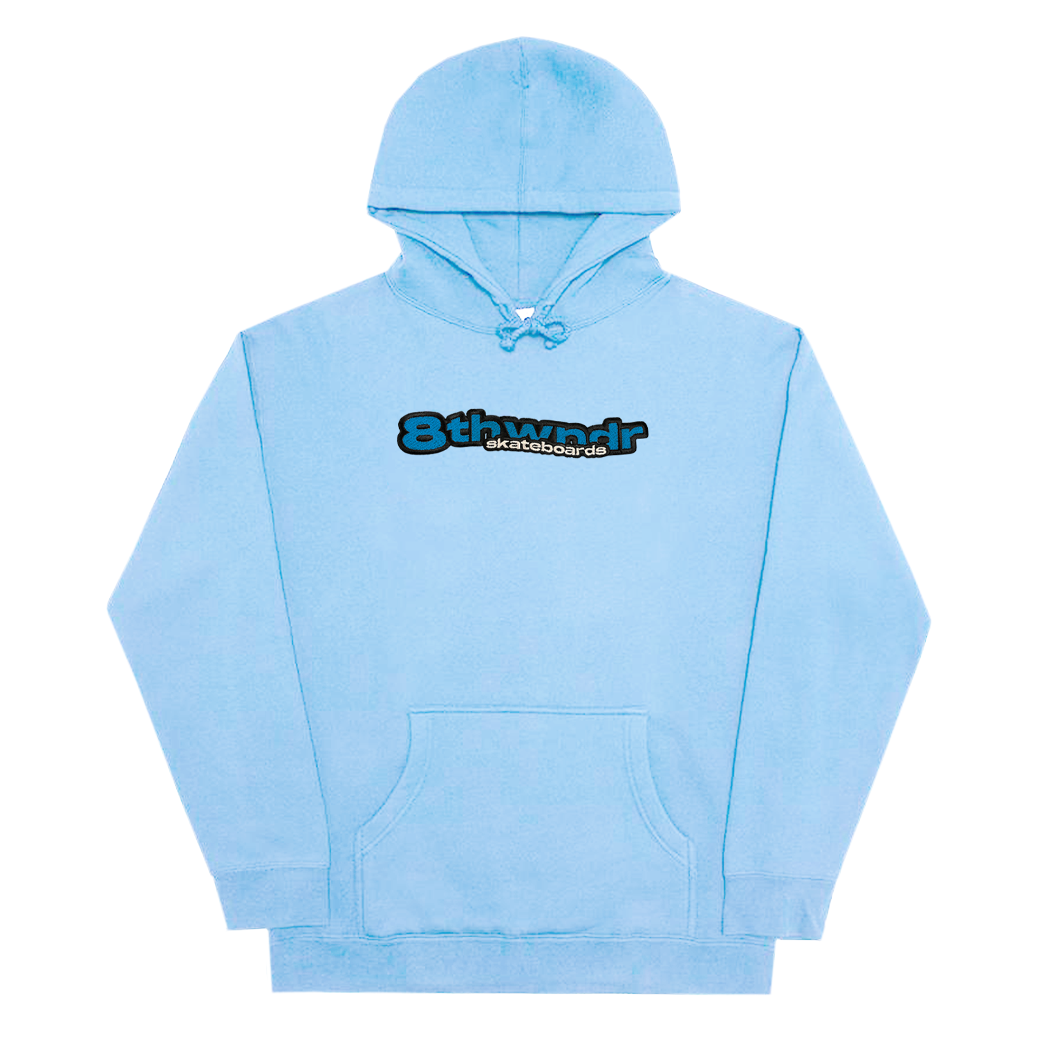 WAVE LOGO HOODIE LIGHT BLUE
