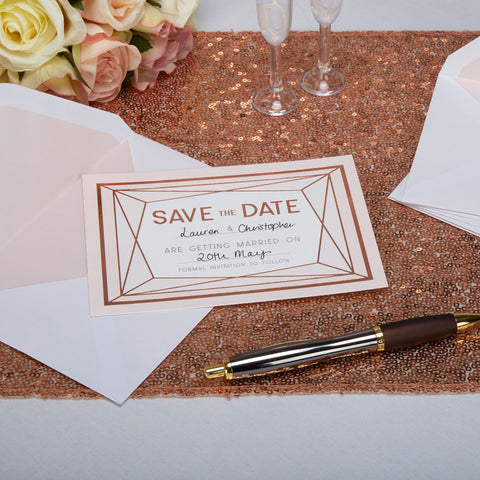 Save The Date - Geo Blush - Wedding Confetti Shop