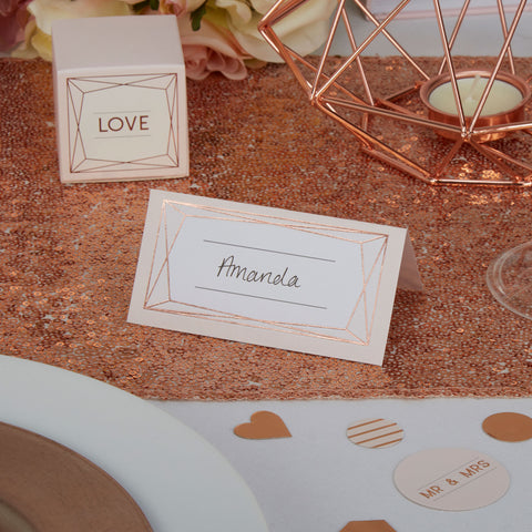 Place Cards - Geo Blush - Wedding Confetti Shop