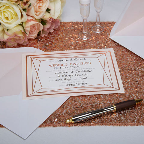 Wedding Invitation - Geo Blush - Wedding Confetti Shop