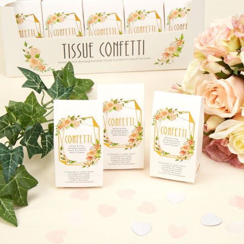 Tissue Confetti - Geo Floral - Wedding Confetti Shop