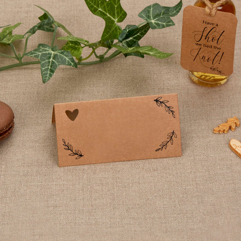 Place Cards - Hearts & Krafts - Wedding Confetti Shop