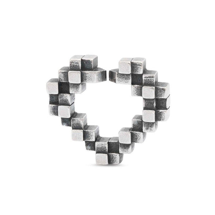 Heart glimpse single silver link