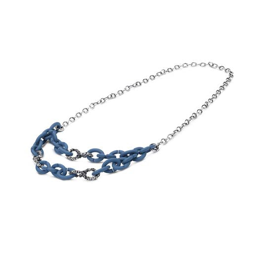 Bold Blue Chain Necklace