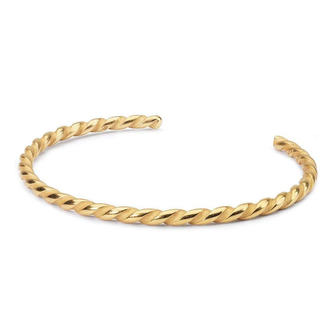 Twisted vergulde bangle