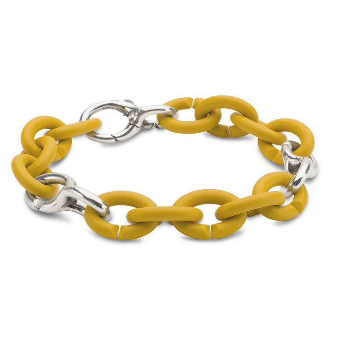 Mellow Yellow Pop Silver Bracelet