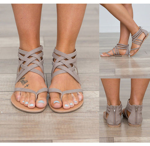 Gladiator Cross Tied Sandals For Women