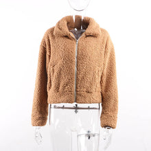 Load image into Gallery viewer, Faux Fur Zip Up Coat, Multiple Colors Available