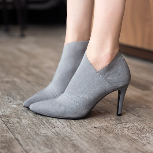 Fitted Pointed Toe High Heels