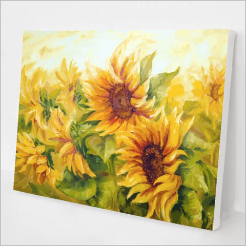 Sunny Sunflowers Paint by Number kit