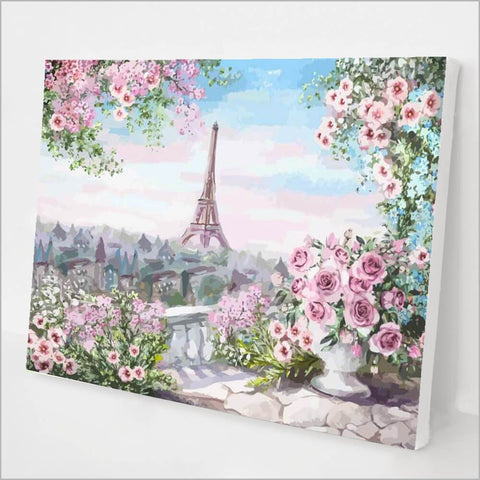 Roses in Paris Paint by Number Kit