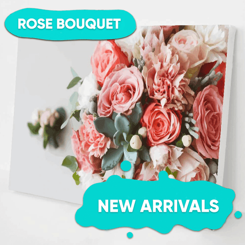 Rose Bouquet Paint by Numbers Kit