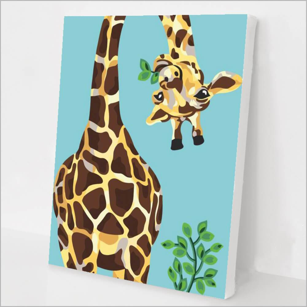 Upside down giraffe paint by numbers
