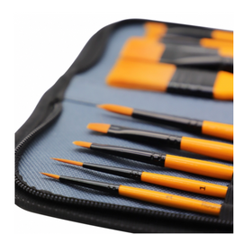 Acrylic Brush Set and Wallet