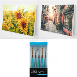 Best Sellers Bundle 6 (2 Paintings + 5 pcs Mini Detail Brush set)