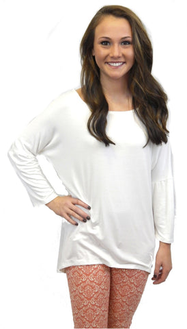 Long Sleeve Tunic - Cream - Front Door Boutique