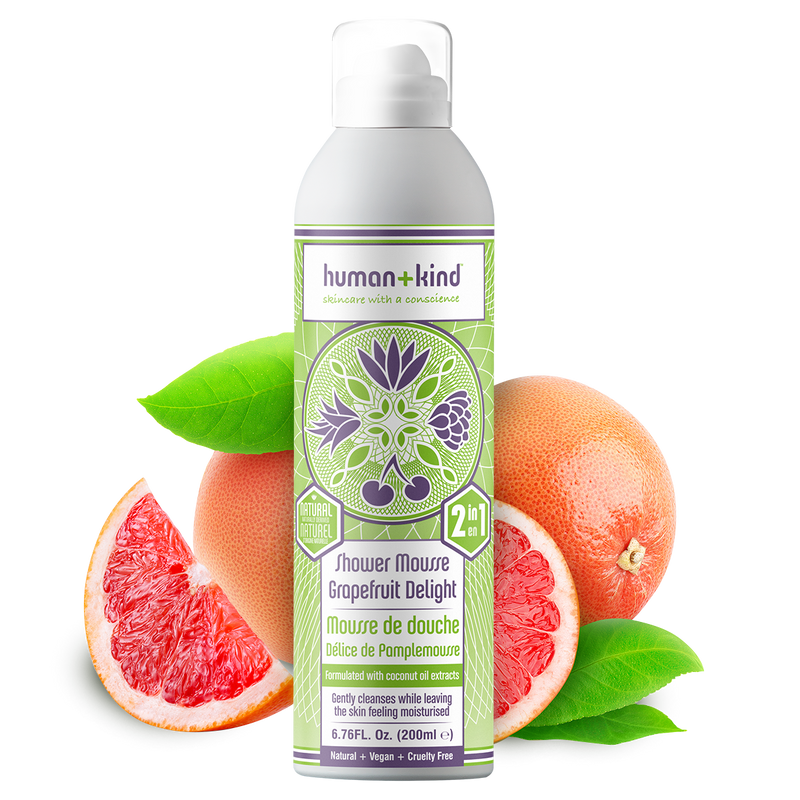 Human+Kind shower mousse grapefruit