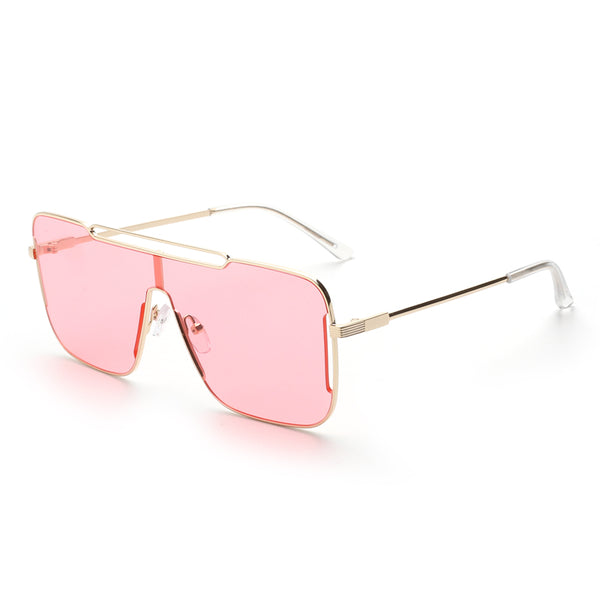 00118 Trendy Mask Nylon Lenses Metal  Full Frame Metal CP Temple Unisex Sunglasses 65-9-147