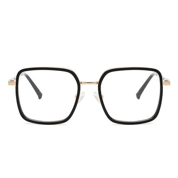 00082 Classic Square demo lens Acetate Full Frame Metal Temple Unisex Eyeglass Frames 51-18-142