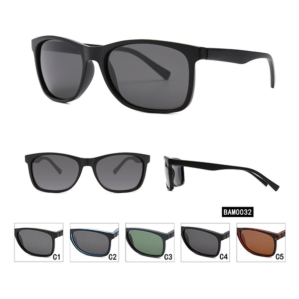 PN2057 Classic Square TAC(Polarized) Lens PC Full Frame PC Temple Men Sunglasses