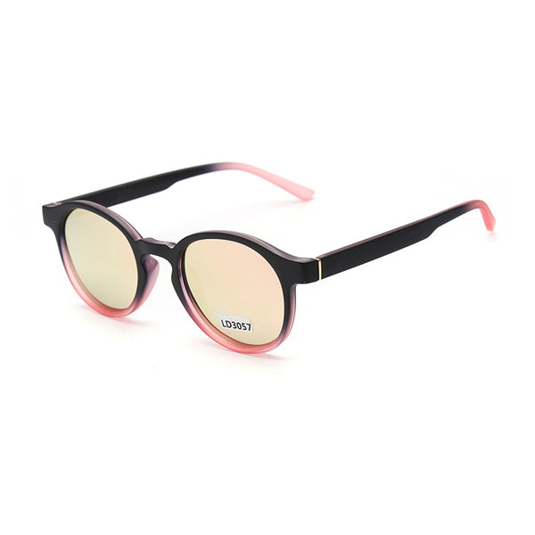 LD3057 Fashion Round TAC(Polarized) Lens PC Full Frame PC Temple Unisex Sunglasses