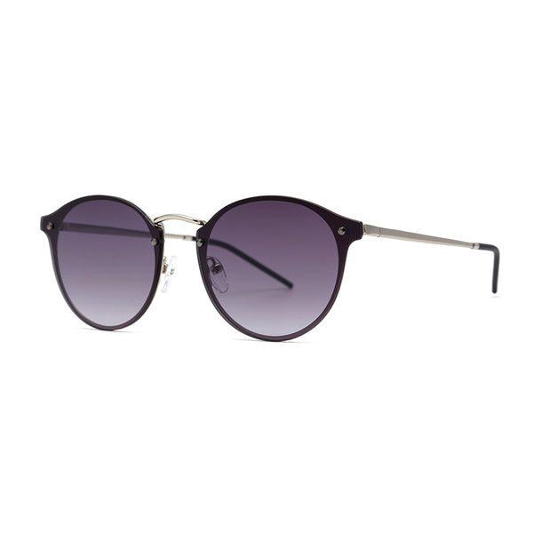 LD3017 Classic Round Glass Lens Metal Full Frame Stainless&PC Temple Unisex Sunglasses