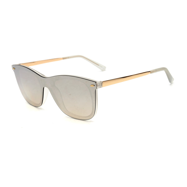 LD4001 Fashion Square PC Lens PC Full Frame Stainless&PC Temple Unisex Sunglasses