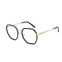 00079 Classic Irregular demo lens Acetate Full Frame Metal Temple Unisex Eyeglass Frames 51-19-142
