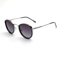 LD3041 Fashion Round TAC(Polarized) Lens Stainless&PC Full Frame Stainless&PC Temple Men Sunglasses