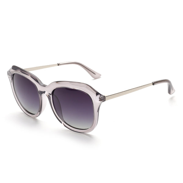 00114 Trendy Square Nylon Lenses Acetate Full Frame Metal CP Temple Women Sunglasses 54-14-140