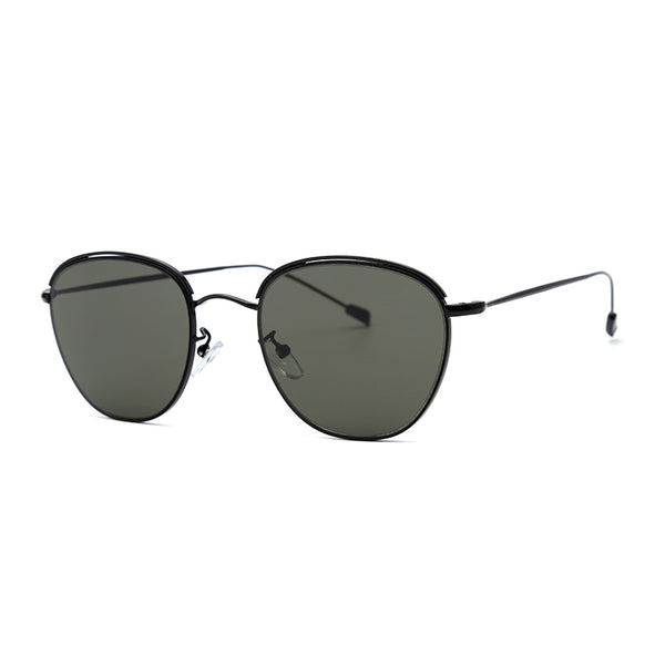 LD3050 Fashion Square PC Lens Stainless Full Frame Stainless Temple Women Sunglasses
