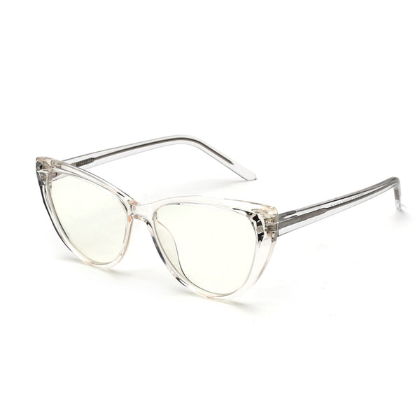 00033 Trendy Cat Eye demo lens Acetate Full Frame Acetate Temple women Eyeglass Frames 54-16-147
