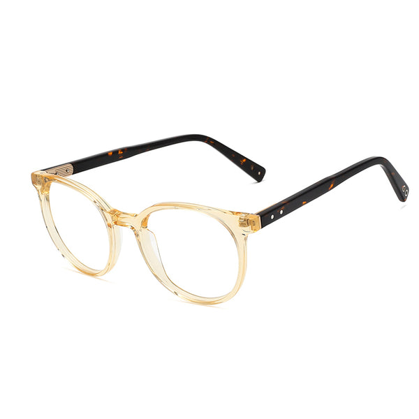 00017 Classic Oval demo lens Acetate Full Frame Acetate Temple unisex Eyeglass Frames