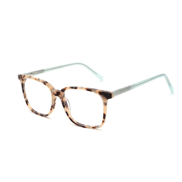 00074 Classic Square demo lens Acetate Full Frame Acetate Temple Women Eyeglass Frames