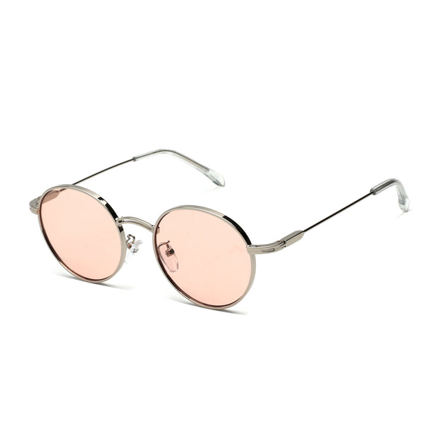 00039 Trendy Round TAC(Polarized) Lenses Metal Full Frame Metal Acetate Temple unisex Sunglasses