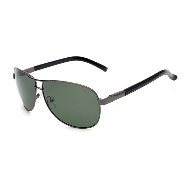 PN2069 Classic Square TAC(Polarized) Lens Metal Full Frame PC Temple Men Sunglasses