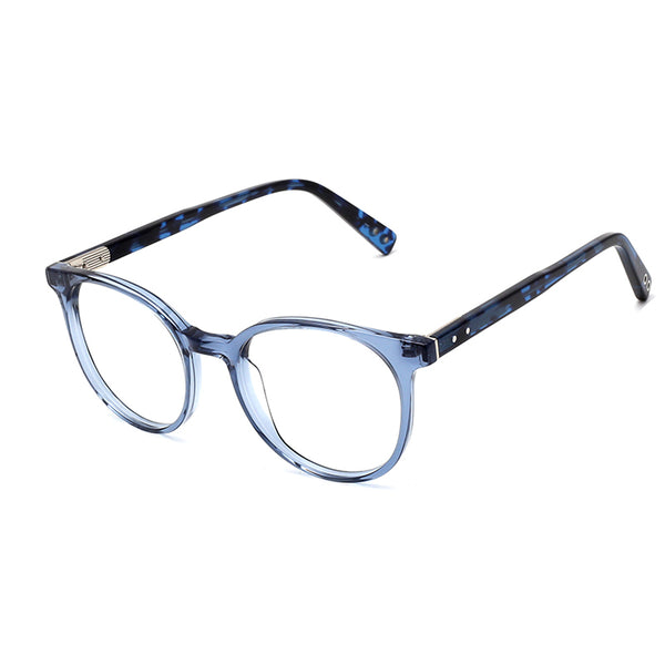 00017 Classic Oval demo lens Acetate Full Frame Acetate Temple unisex Eyeglass Frames 51-20-145