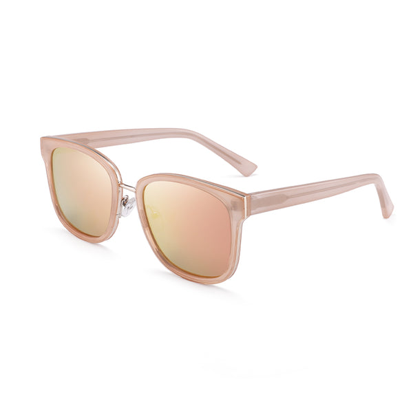 00146 Trendy Square TAC(Polarized) Lenses Acetate Full Frame Acetate Temple Unisex Sunglasses 55-20-149
