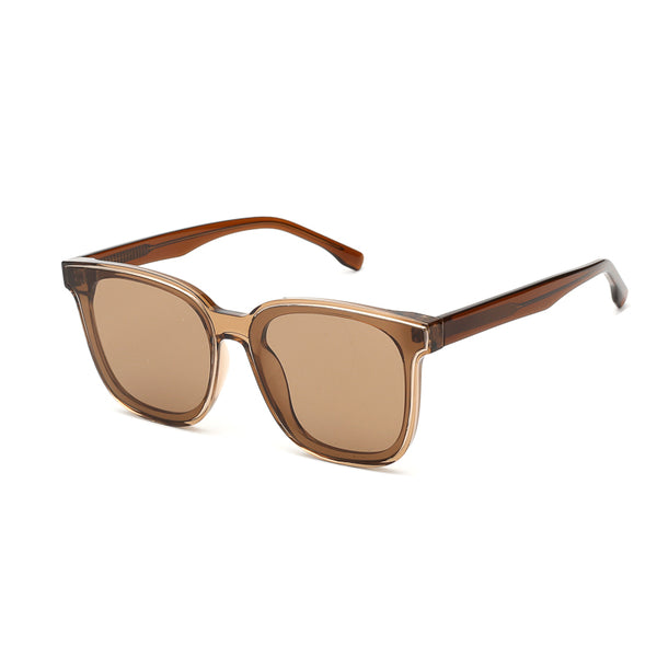 00092 Classic Square Plastic Lenses Plastic Full Frame Plastic Temple Women Sunglasses 65-14-150