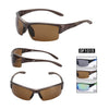 DF1015 Sports Square PC Lens PC Half Frame PC Temple Men Sunglasses