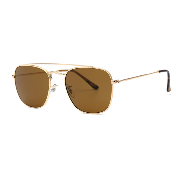 PN1012 Fashion Square TAC(Polarized) Lens Stainless&PC Full Frame Stainless Temple Men sunglasses