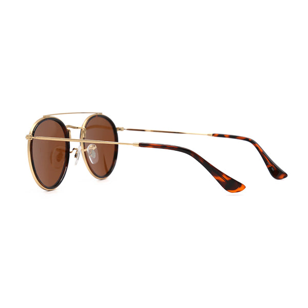 PN1019 Classic Round TAC(Polarized) Lens Stainless&PC Full Frame Stainless&PC Temple Men Sunglasses