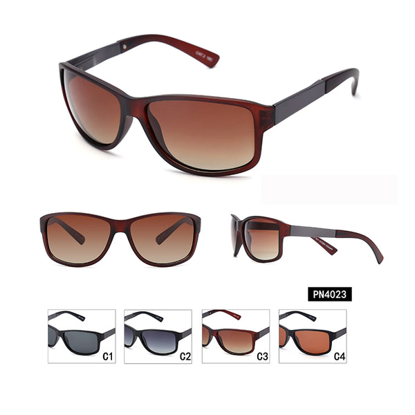 PN4023 Sports Square TAC(Polarized) Lens PC Full Frame Stainless&PC Temple Men Sunglasses