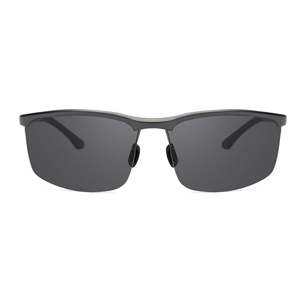 PN5005 Classic Square TAC(Polarized) Lens Metal Half Frame Stainless&PC Temple Men Sunglasses