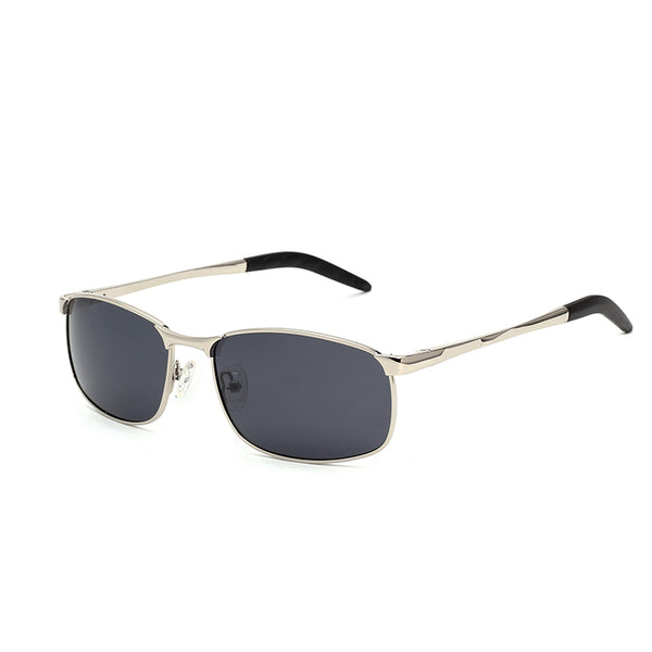 00069 Classic Square TAC(Polarized) Lenses Metal Full Frame Metal Temple Unisex Sunglasses