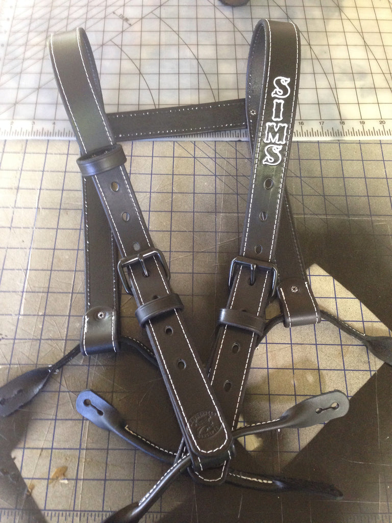 Custom Leather Suspenders