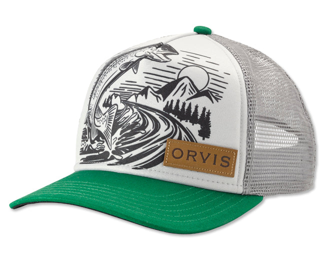 Orvis Jumping Trout Foam Dome Hat