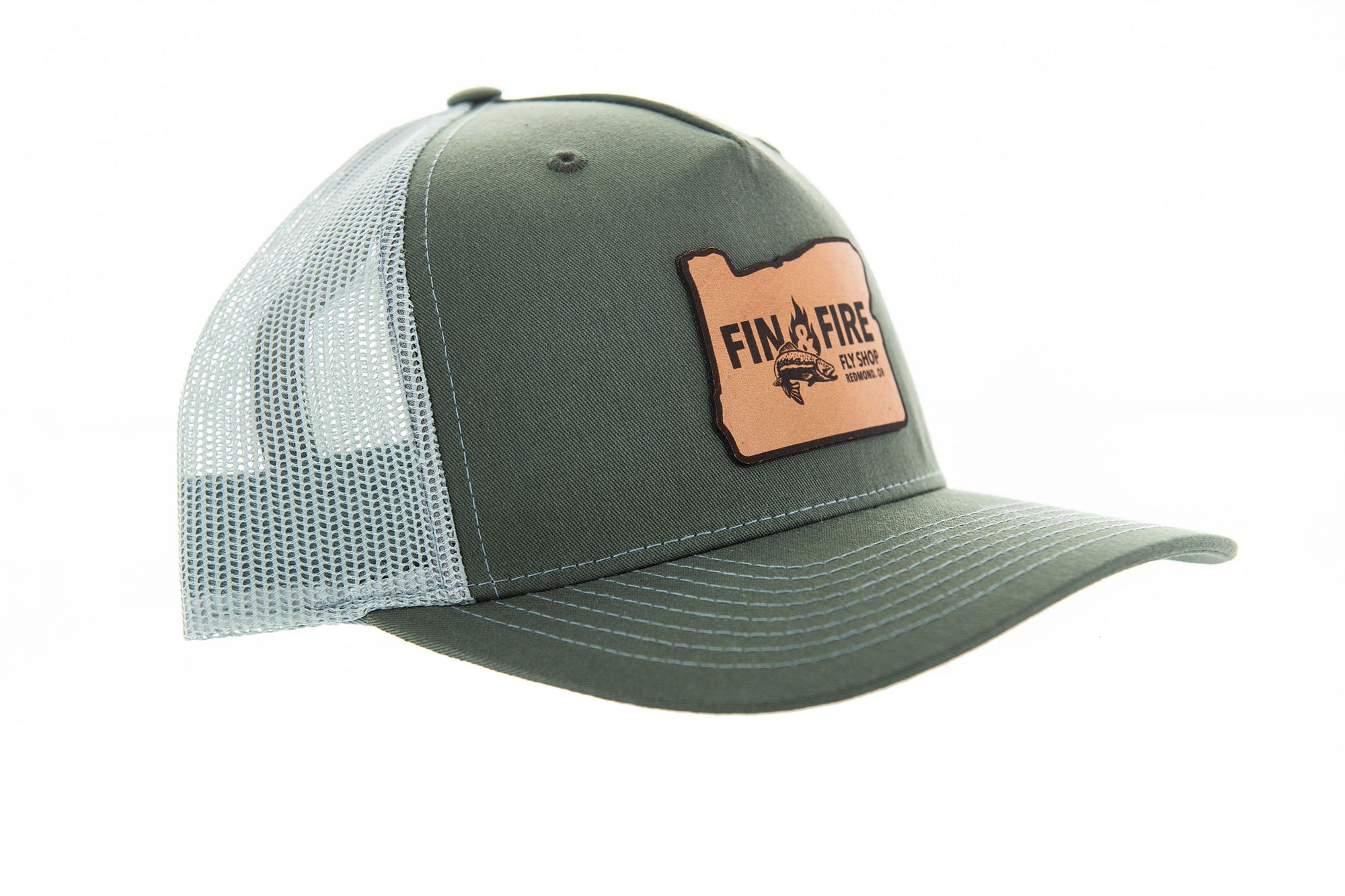 Fin & Fire Logo Hat: Beetle/Quarry