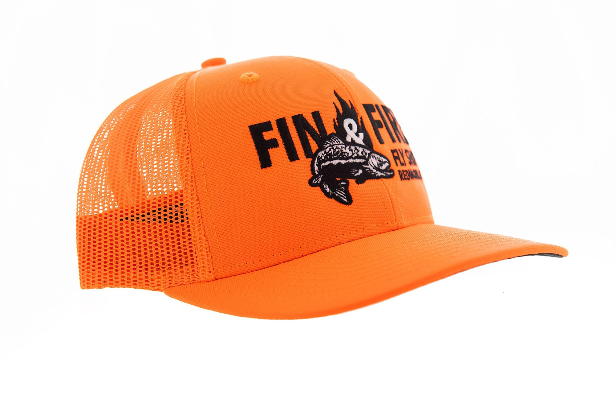 Fin & Fire Logo Hat: Blaze Orange